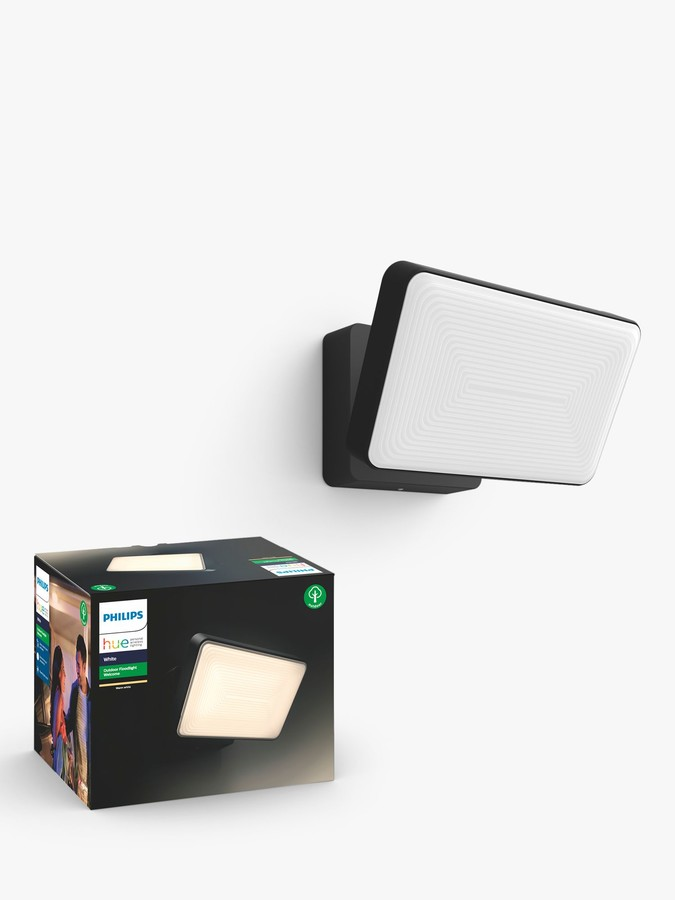 Philips Hue White Ambiance Welcome LED Outdoor Floodlight, Black