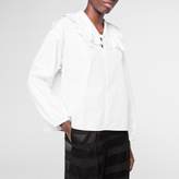 Paul Smith Women's White Cotton Shirt With Frilled Neck