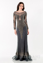 Terani Evening - Bedecked Bateau Illusion Mermaid Gown 1522GL0830A