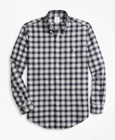 Brooks Brothers Madison Fit Plaid Brushed Oxford Sport Shirt