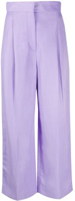 Sandro Paris Edem wide-leg trousers