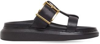 Alexander McQueen 40mm Hybrid Leather Sandals