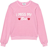 Wildfox Couture Pink I Miss My Bed Print Sweater