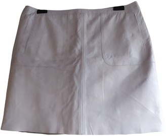 French Connection Blue Leather Skirt for Women