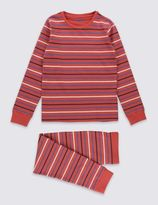 Marks and Spencer Skinny Fit Striped Pyjamas (1-16 Years)
