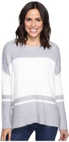 Michael Stars Fuzzy Oversized Stripe Pullover Sweater