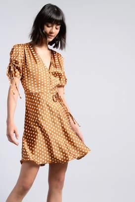 Glamorous Womens **Camel Spot Button Front Dress By Camel