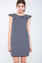 Jack Wills Cate Stripe Frill Collar Dress
