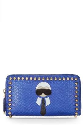 Fendi Blue Python Karlito Wallet