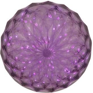 Vickerman 30 LED Light 6-inch Purple Outdoor Crystal Ball