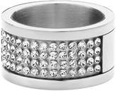 Dyrberg/Kern Emily SS Crystal Fancy Ring for Womens 33096- Size P
