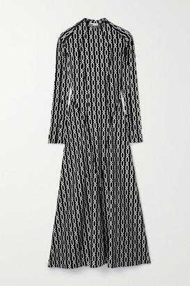 GmbH Elif Printed Stretch-jersey Dress - Black