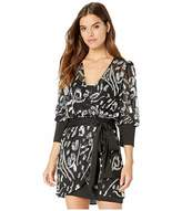 BCBGMAXAZRIA Long Sleeve Sequin Cocktail Dress (Black Combo) Women's Dress