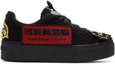 Kenzo Black K-Patch Platform Sneakers
