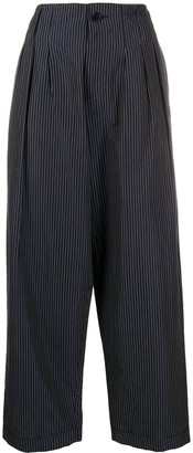 YMC Cropped Striped Trousers