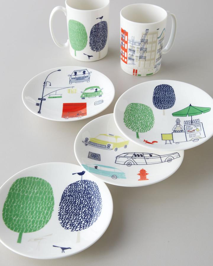 "Kate Spade About Town"" Mugs & Dessert Plates"
