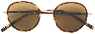 Eyevan 7285 Tortoiseshell Round Sunglasses