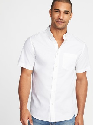 Old Navy Clean-Slate Built-In Flex Everyday Oxford Short-Sleeve Shirt for Men