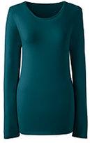 Classic Women's Shaped Layering Crewneck T-shirt-Burgundy Stripe