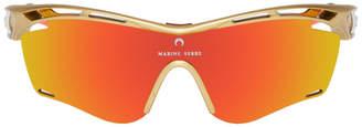 Marine Serre Gold and Orange Rudy Project Edition Tralyx Slim Moon Sunglasses