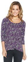 M&Co Daisy print pleat front top