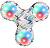 FEITONG New Style LED Light Fidget Hand Spinner Torqbar Finger Toy For Kids & Adults