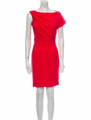 Zac Posen Bateau Neckline Mini Dress Pink