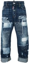 DSQUARED2 'Big Brother' jeans - men - Cotton/Calf Leather/Polyester/Polyurethane - 48