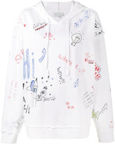 Mira Mikati scribble print hoodie - women - Cotton - 36