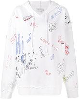 Mira Mikati scribble print hoodie - women - Cotton - 40