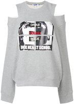 Sjyp cut-out shoulder sweatshirt
