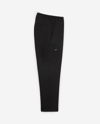 The Kooples Black wool and polyester trousers w/turn-ups