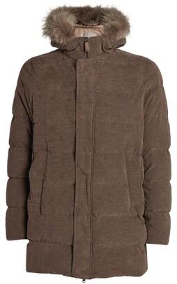 Herno Padded Fur-Trim Hooded Jacket