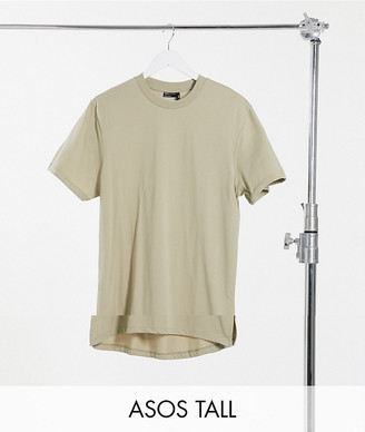 ASOS DESIGN Tall 2-pack longline t-shirt with side slits