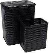 Redmon Redmonusa Chelsea Wicker Nursery Hamper and Matching Wastebasket, Black by RedmonUSA