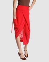 Y'S YOHJI YAMAMOTO 3/4 length skirt