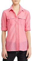 Lauren Ralph Lauren Cotton Silk Voile Shirt