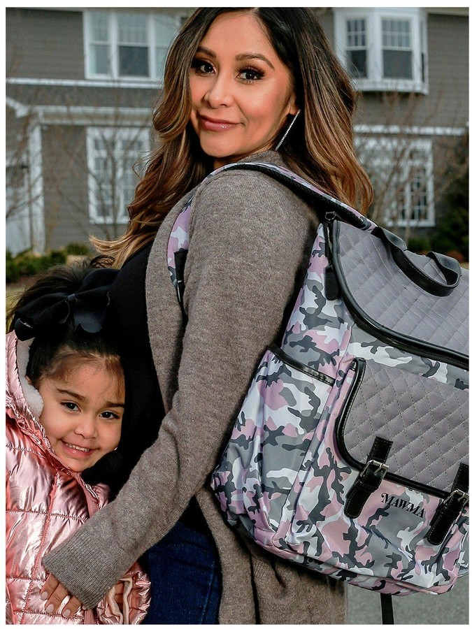 Thumbnail for your product : My Babiie MAWMA by Nicole 'Snooki' Polizzi Pink Camo Changing Bag
