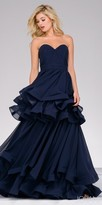 Jovani Strapless Sweetheart Tier Layered Evening Gown