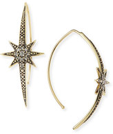 Mizuki Small Icicle Star Earrings with Diamonds