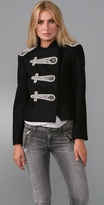 Shrunken Military Jacket with Embellishments