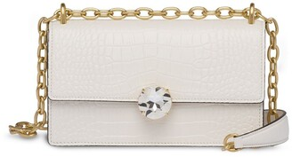 Miu Miu Crocodile-Embossed Shoulder Bag