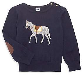 Janie and Jack Little Girl's & Girl's Saddle Horse Sweater
