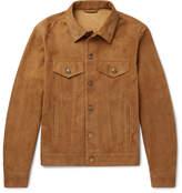 Alanui Slim-Fit Suede Trucker Jacket