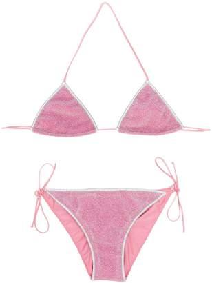 Oseree Kids contrast trim bikini set