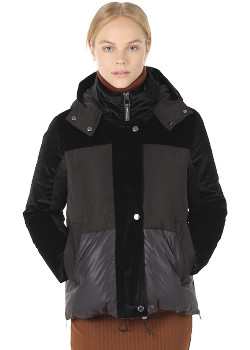 Spoom - Cetina Black Down Puffer Coat - black | polyester | 34 - Black/Black
