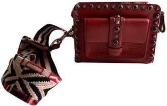 Valentino Guitar Rockstud Red Leather Handbags