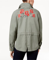 Style&Co. Style & Co Cotton Embroidered-Back Utility Jacket, Only at Macy's