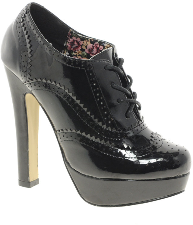 Timeless Patent Heeled Brogues