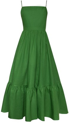 Andres Otalora Cienaga Linen Midi Dress